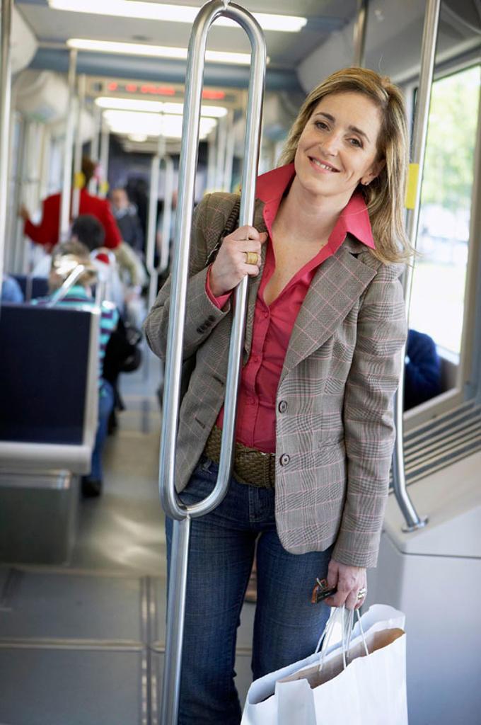 Stock Photo: 1566-300704 Commuters. Tramway. Bilbao, Bizkaia, Euskadi. Spain.