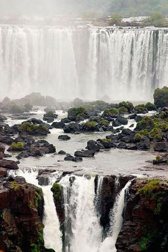 Iguazu Waterfalls, Iguazú National Park. Argentina-Brazil border : Stock Photo