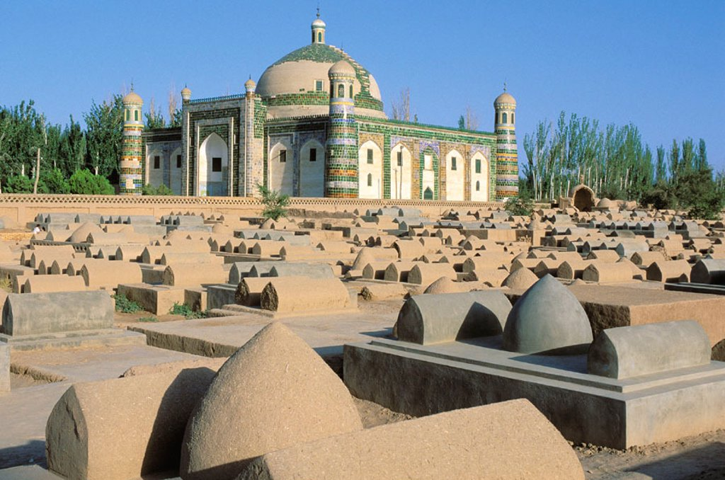Abakh Hoja tomb. Kashgar (Kashi). Sinkiang Province (Xinjiang). China : Stock Photo