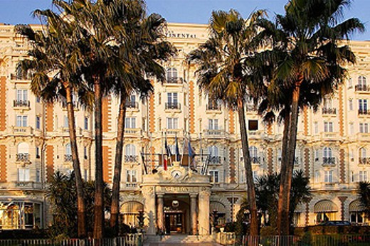 Hotel Carlton at Cannes. Cote d´Azur. Provence. France : Stock Photo