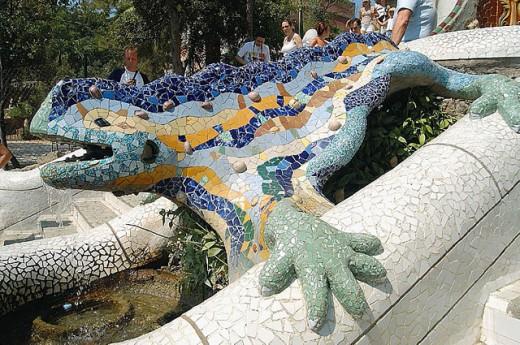 Stock Photo: 1566-304450 Dragon at Park Güell. Barcelona (Spain)