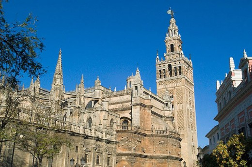 Giralda and Cathedral. Sevilla. Andalusia. Spain : Stock Photo