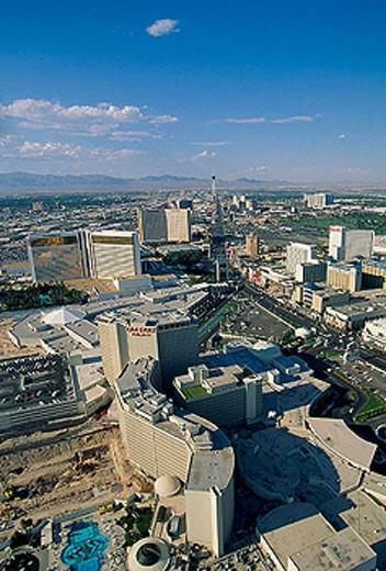 Stock Photo: 1566-311736 Air view near the Caesar´s Palace. Las Vegas. Nevada. USA.