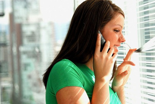 Stock Photo: 1566-311961 Girl on cell phone