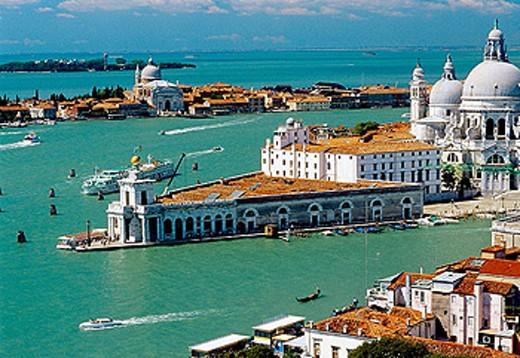 Punta della Dogana and Santa Maria della Salute church. Venice. Veneto, Italy : Stock Photo