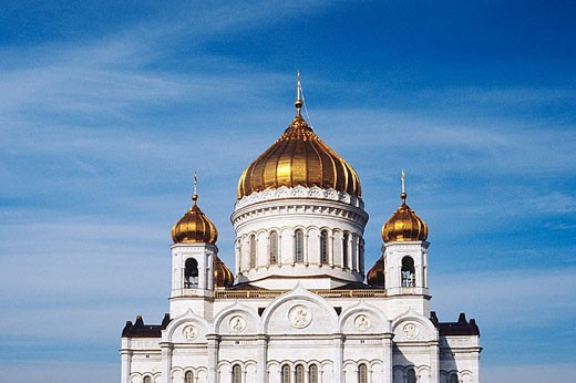 Cathedral of Christ the Saviour, Moscow, Russia : Stock Photo
