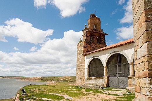 Stock Photo: 1566-312197 Chapel of Santa María del Castillo, Montamarta. Zamora province, Castilla-León, Spain