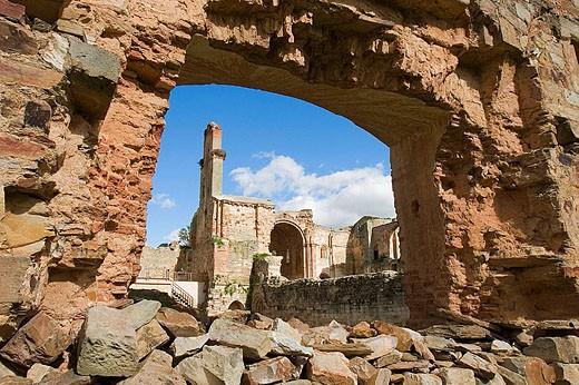 Ruins of Santa Maria de Moreruela Cistercian monastery (12th century). Zamora province, Castilla-León, Spain : Stock Photo