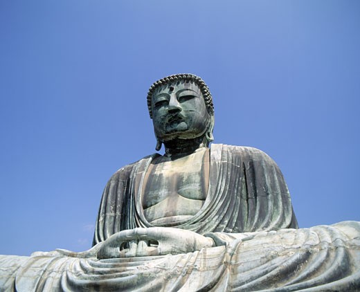 Stock Photo: 1566-315 The Daibutsu (bronze Great Buddha). Kamakura. Japan