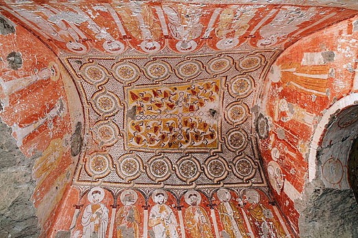 Frescoes. Cappadocia. Turkey. : Stock Photo