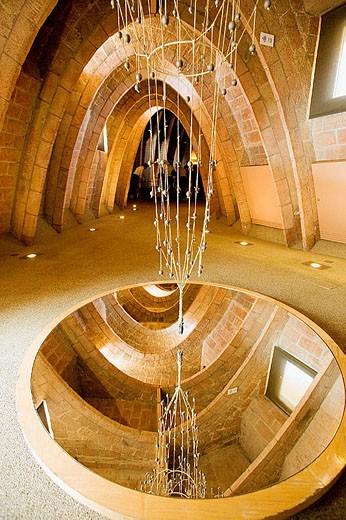 Casa Milà (La Pedrera) by Antoni Gaudí, interior of the attic. Barcelona. Spain : Stock Photo