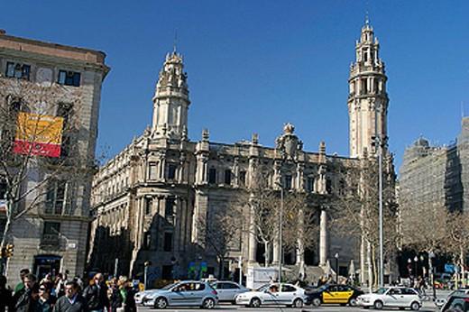 Central post office building. Barcelona. Catalonia. Spain : Stock Photo
