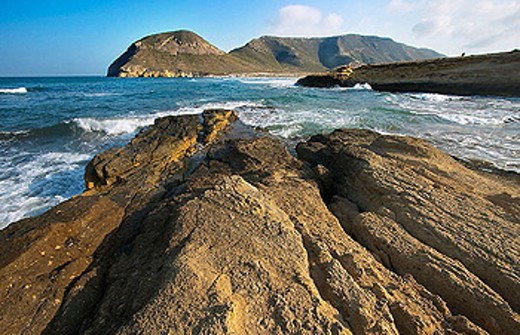 ´El Playazo de Rodalquilar´. Cabo de Gata - Nijar Natural Park. Almeria Province. Andalucia. Spain : Stock Photo