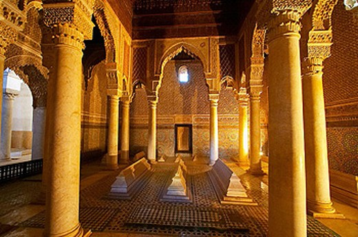 Stock Photo: 1566-320307 Saadian tombs. Royal necropolis (14th century) Marrakech. Morocco.