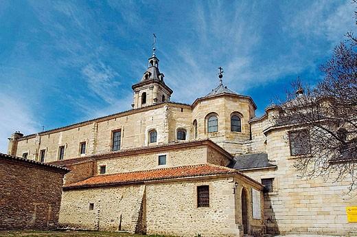 El Paular Monastery. Rascafría. Madrid. Spain. : Stock Photo