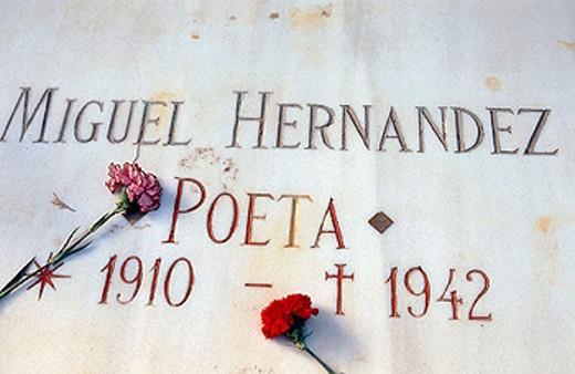 Stock Photo: 1566-320788 Tomb of Miguel Hernández, Alicante. Comunidad Valenciana, Spain