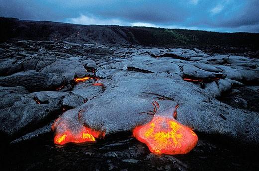 Lava. Kilauea volcano. Hawaii Volcanoes National Park. Big Island. Hawai : Stock Photo