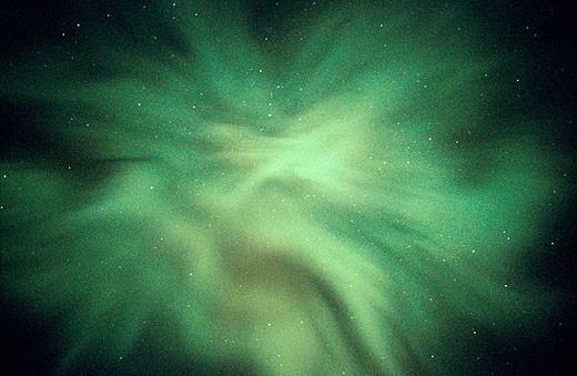 Stock Photo: 1566-321832 Aurora Borealis or Nothern Lights. Denali National Park. Alaska. USA