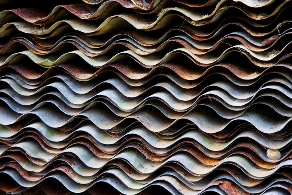Corrugated iron pattern : Stock Photo