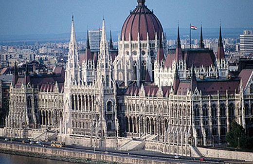 Hungarian Parliament Building, Budapest. Hungary : Stock Photo