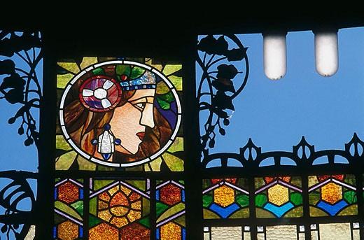Stock Photo: 1566-323469 Art nouveau municipal house, Prague. Czech Republic