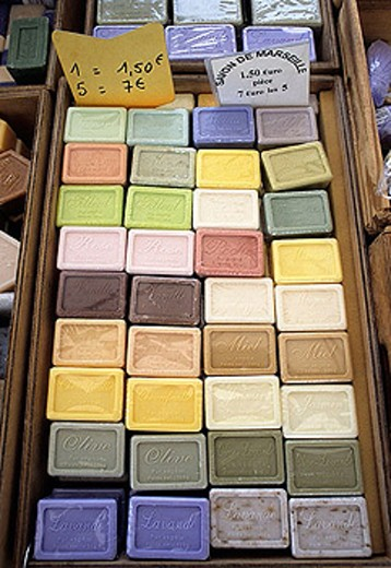 Stock Photo: 1566-324306 Marseille soap. Apt. Vaucluse. Provence, France
