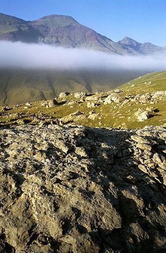 Stock Photo: 1566-324355 ´Canal de Izas´. Canfranc Valley. Pyrenees Mountains. Huesca province, Aragón. Spain