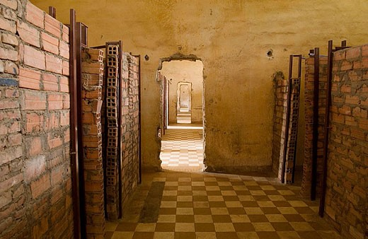 Tuol Sleng (Security Prison 21, or S-21). Phnom Penh, Cambodia : Stock Photo