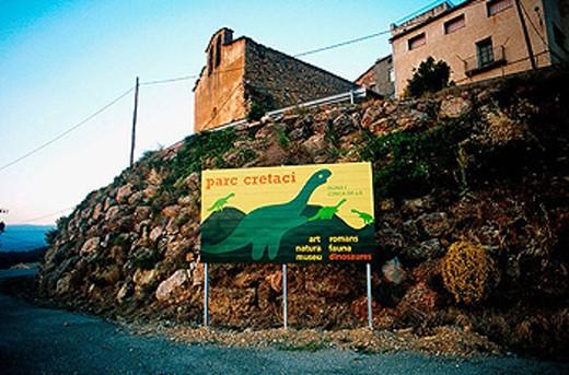 Cretacic park of Isona. Catalonia. Spain : Stock Photo