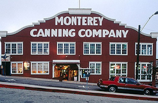 Stock Photo: 1566-325513 Monterey Canning Company building (c.1920), historic sardine industry. Monterey, California. USA