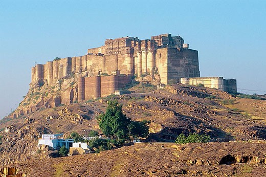 Meherangarh Fort. Jodhpur. Rajasthan. India. : Stock Photo
