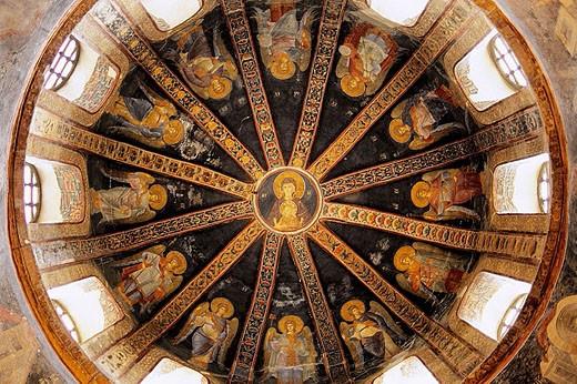 May 2006. Mosaic decoration at ´Chora´ church, now Kariye Musezi. Istanbul. Turkey : Stock Photo