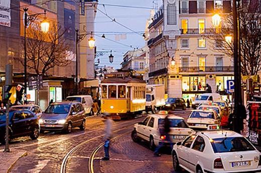 Stock Photo: 1566-326259 Largo do Chiado. Lisbon. Portugal.
