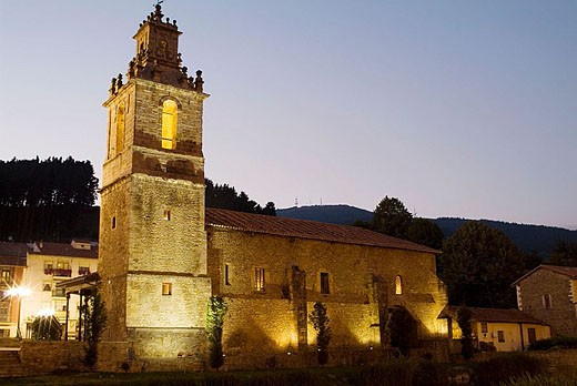 St. John´s church (15th century), Balmaseda. Biscay, Euskadi, Spain : Stock Photo