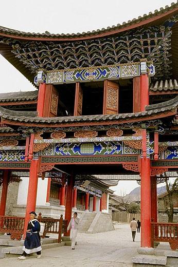 Street scene, people. Lijiang. Yunnan Province. China. : Stock Photo