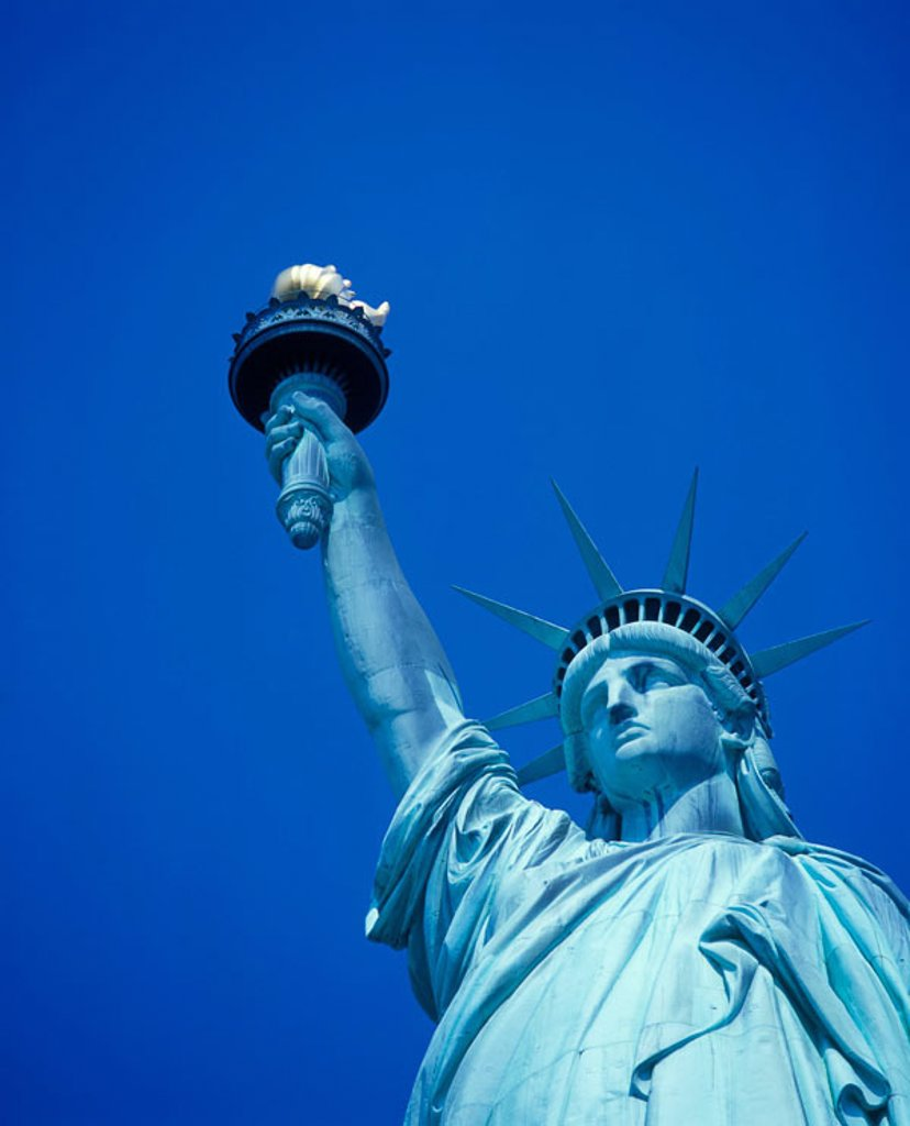 Stock Photo: 1566-326605 Statue of liberty, New York harbor, New York, USA