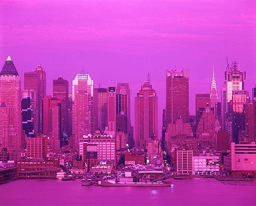 Midtown skyline, Manhattan, New York, USA : Stock Photo