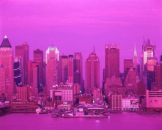 Stock Photo: 1566-326623 Midtown skyline, Manhattan, New York, USA