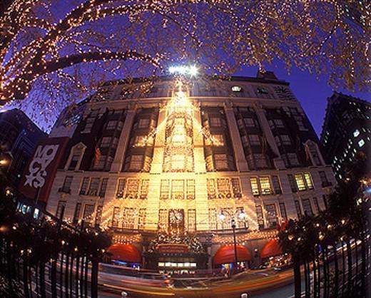 Stock Photo: 1566-326776 Christmas, Macys store, Herald square, Manhattan, New York, USA