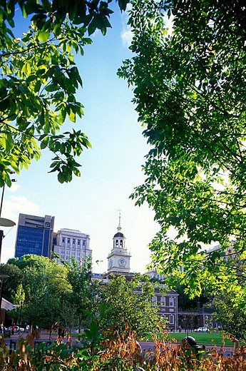 Independence mall, Historic district, Philadelphia, Pennsylvania, USA : Stock Photo