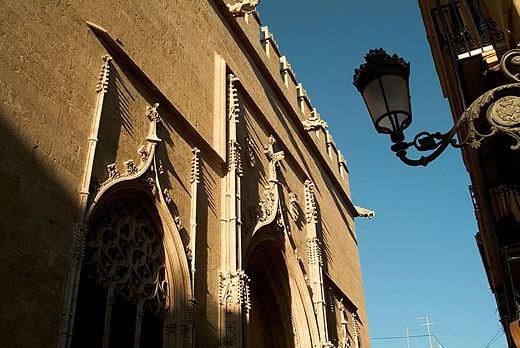 Gothic Lonja de la Seda (´Silk Exchange´, 15th century), Valencia. Comunidad Valenciana, Spain : Stock Photo