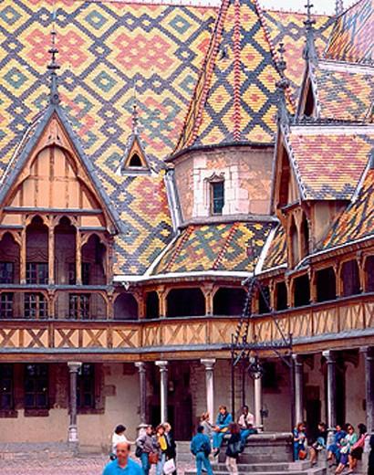 France, Bourgogne, Beaune, Hôtel Dieu : Stock Photo