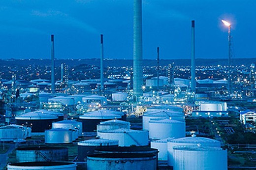 Curacao Island Oil Refinery. Willemstad. Curaçao. Netherlands Antilles. : Stock Photo