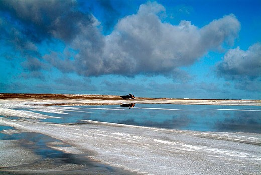 Stock Photo: 1566-331162 Guerrero Negro salt pans, Mexico