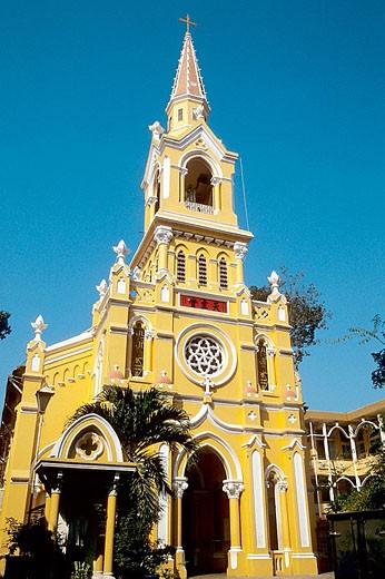 Cholon, Cha Tam Church. Ho Chi Minh City (Saigon). Vietnam. : Stock Photo