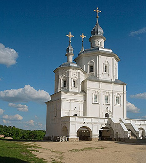 Cathedral of Nativity of Our Lady, Molchanskiy monastery, Putivl, Ukraine : Stock Photo