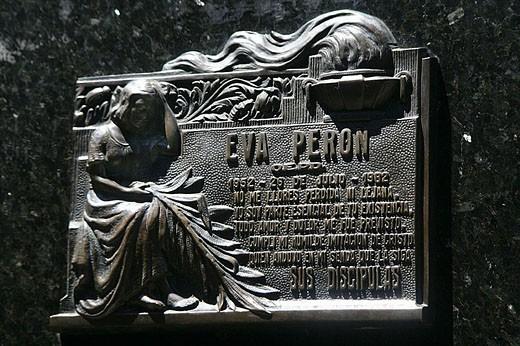 Stock Photo: 1566-332449 Eva Peron´s gravesite memorial