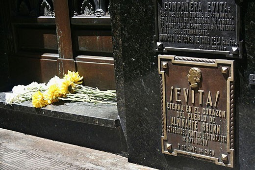 Stock Photo: 1566-332450 Eva Peron´s gravesite, Recoleta