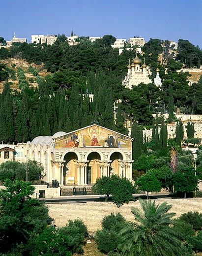 Stock Photo: 1566-333413 Church of all nations gethsemane, Mount of olives, Jerusalem, Israel.