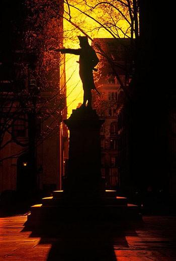 Blake statue, Philadelphia, Pennsylvania, USA. : Stock Photo